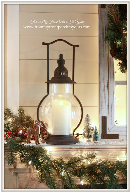 Decor Steals- Lanterns-Farmhouse-French Country-Christmas Mantel 2015-From My Front Porch To Yours