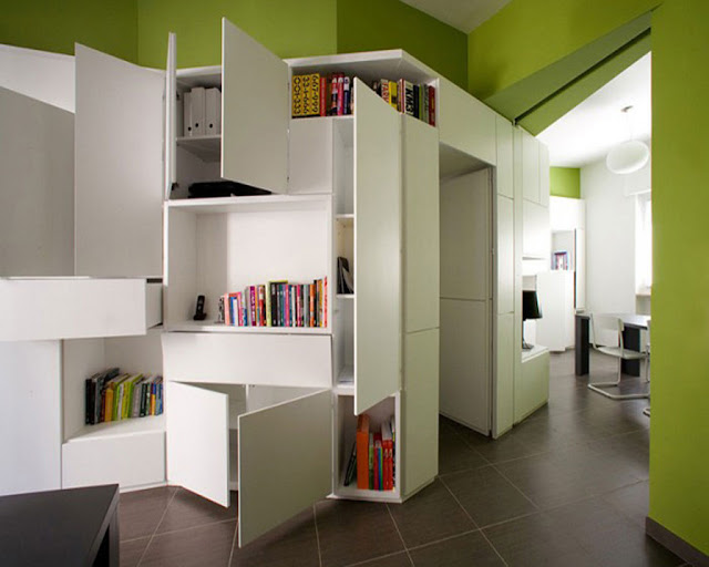 Space Saving For Small House Interior Design Living Room - Home ...