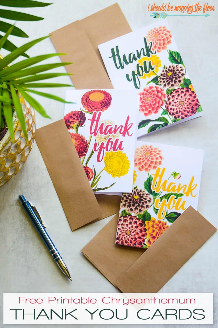 Floral Thank You Card Printables