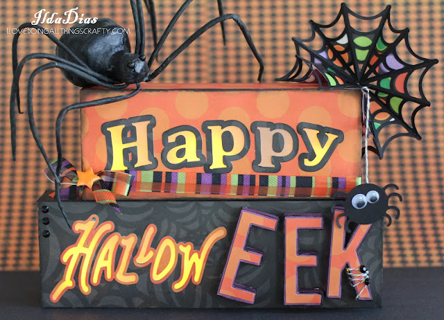 Faux Woodblock Halloween Signs | SVGCuts Files