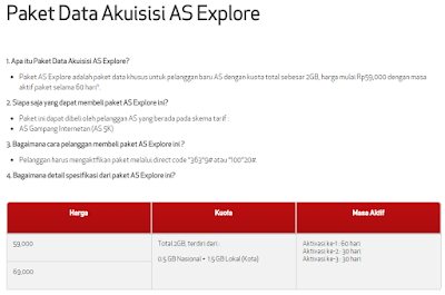 as, Telkomsel, Paket Data Akuisisi AS Explore