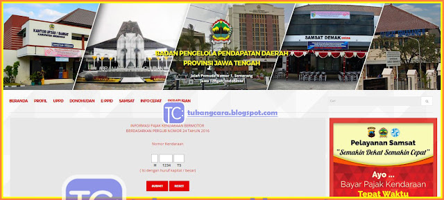 Info Pajak Kendaraan Bermotor Jateng