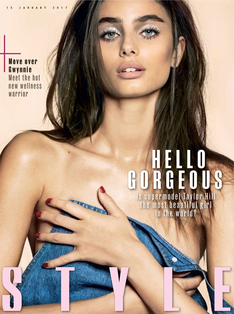 Taylor Hill shows off spring beauty looks for Sunday Times Style