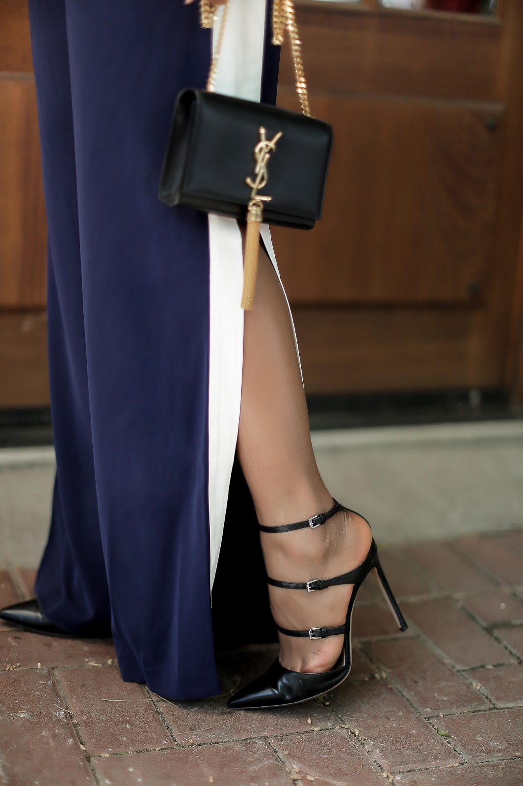 Gianvito Rossi strap shoes, ysl bag, www.jadore-fashion.com