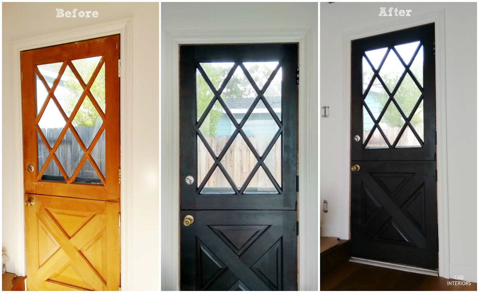 modern farmhouse dutch door transformation