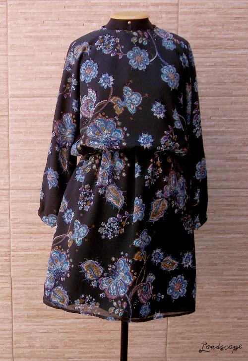 Molde vestido com manga japonesa