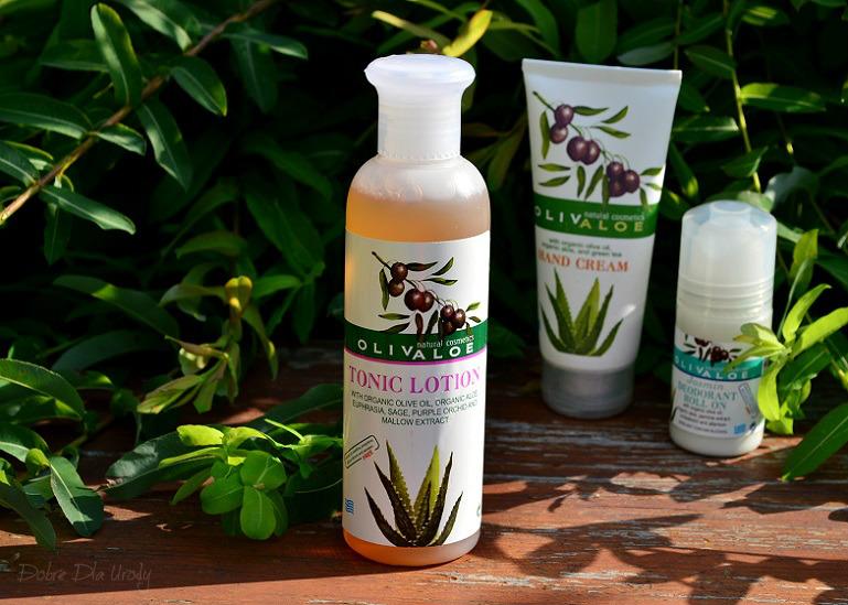 Naturalne greckie kosmetyki Tonik do twarzy z organicznym aloesem i oliwą z oliwek
