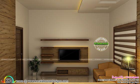 Living room interior in India