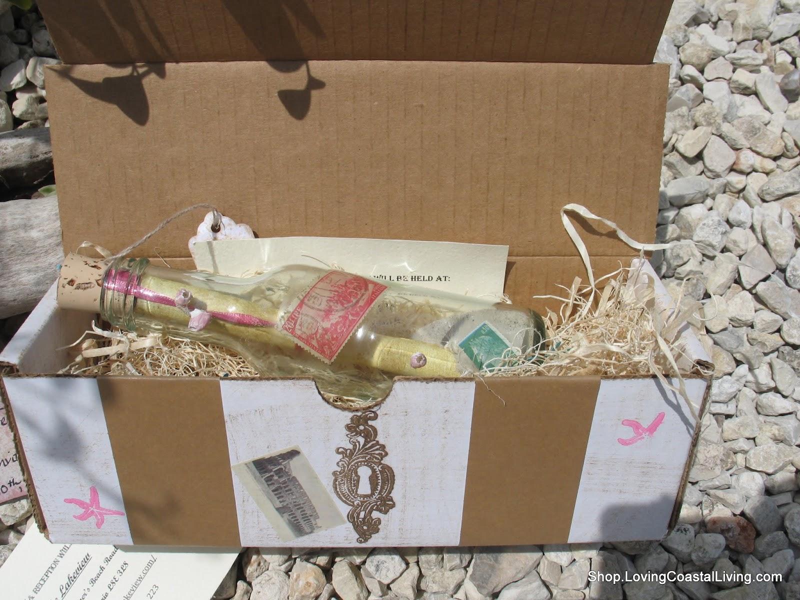 Message In A Bottle Wedding Invitations: SeaShellsbySeashore's The Shell Lady: Custom Message In A