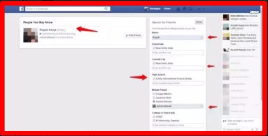 Facebook Advance Search