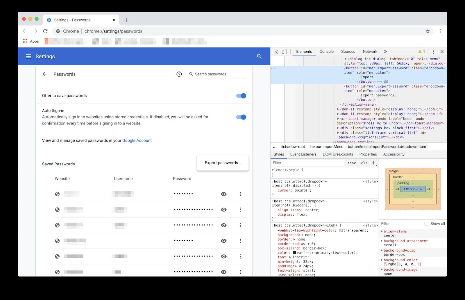 Come importare password su Google Chrome