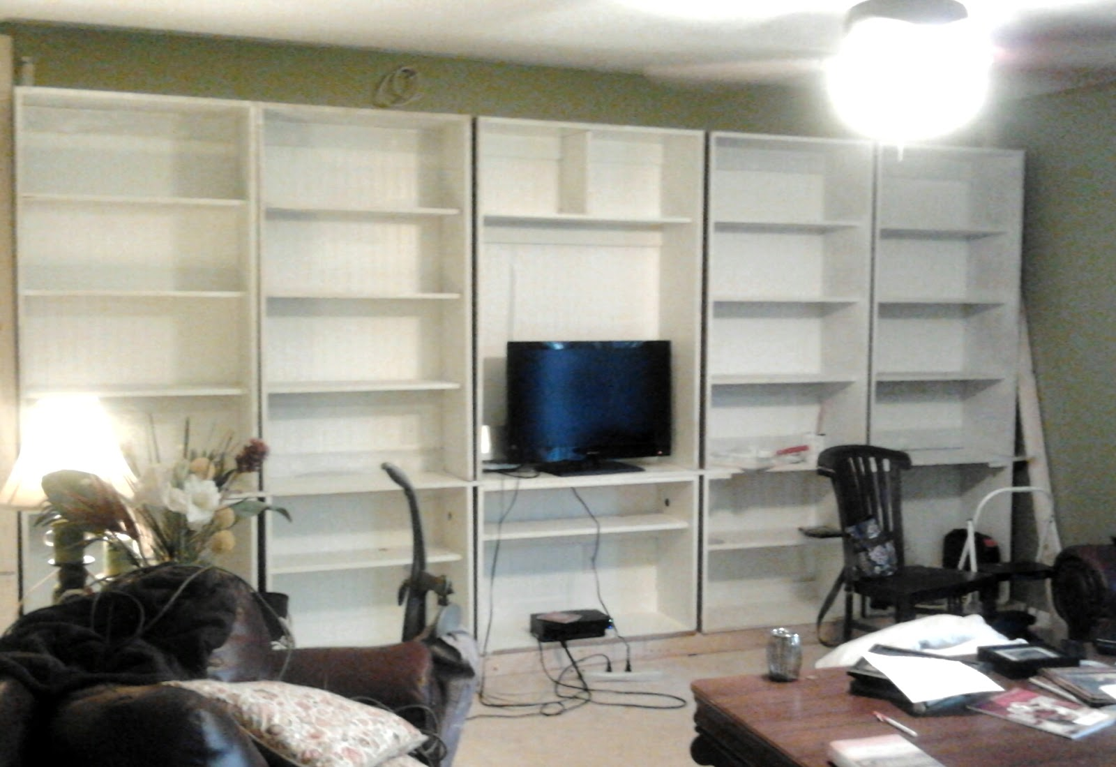 Updates the beach shack dawn 39 s built ins my seasonal - Living room built ins ...