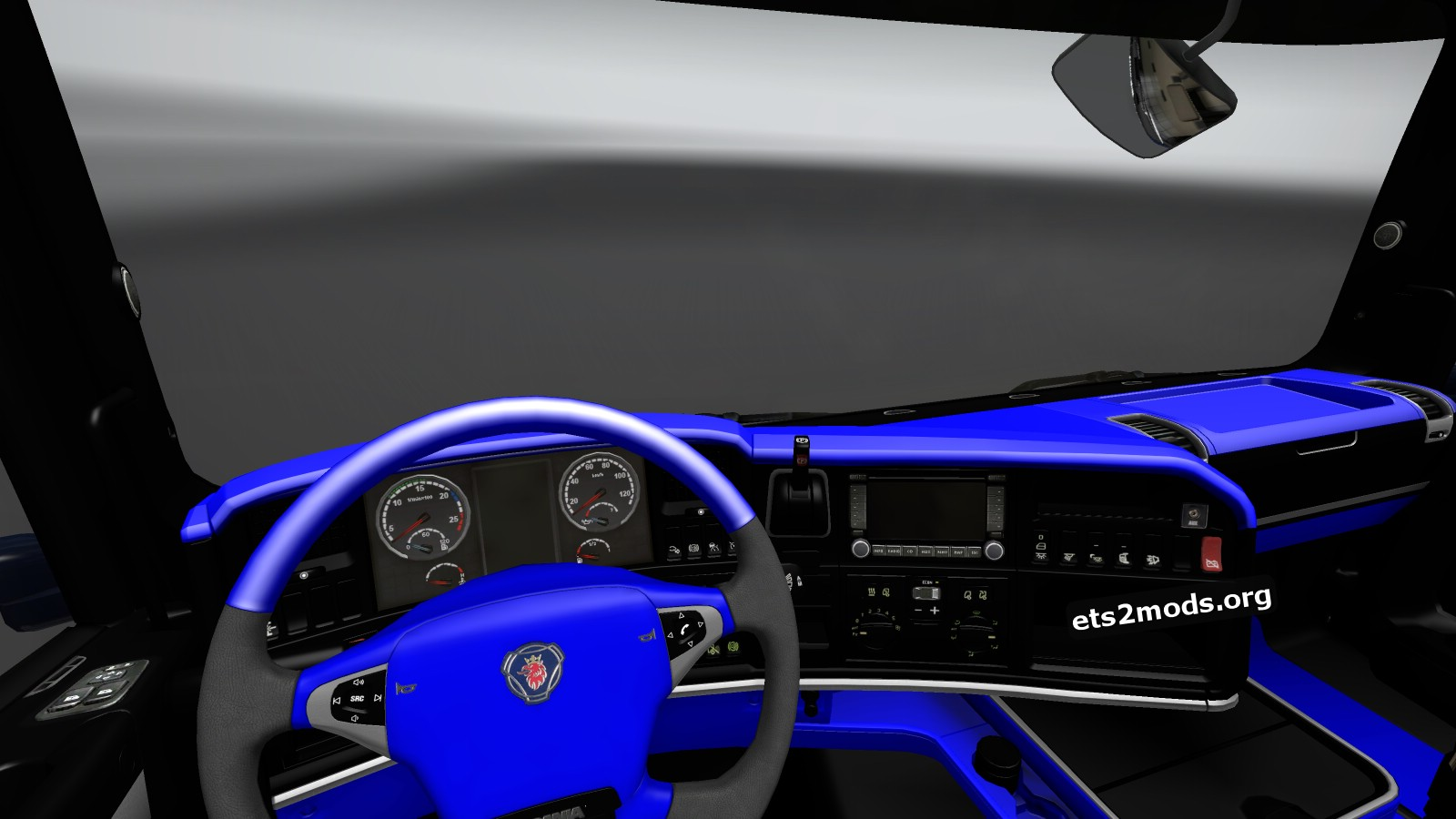 Scania Streamline Interior Blue and Black