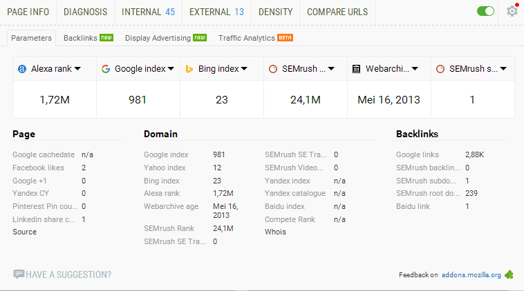 Index Blog Di Google Meningkat