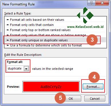 Cara Mencari Duplikat Data Excel 3