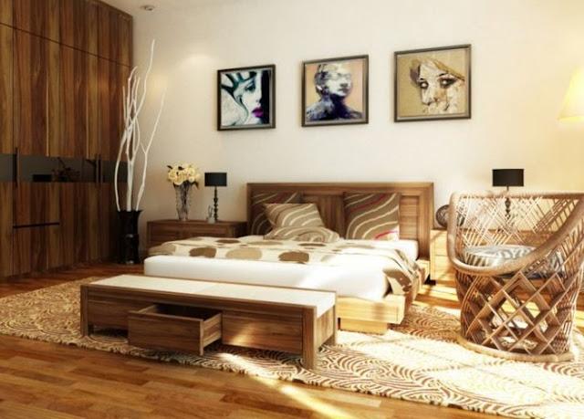 Mẫu giường ngủ gỗ óc chó hiện đại phong cách đẳng cấp ,quyến rũ