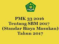 PMK 33 2016 Tentang SBM 2017 (Standar Biaya Masukan 2017)