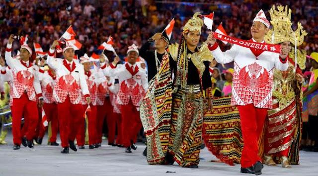 Kostum Pembukaan Indonesia di Olimpiade RIO 2016