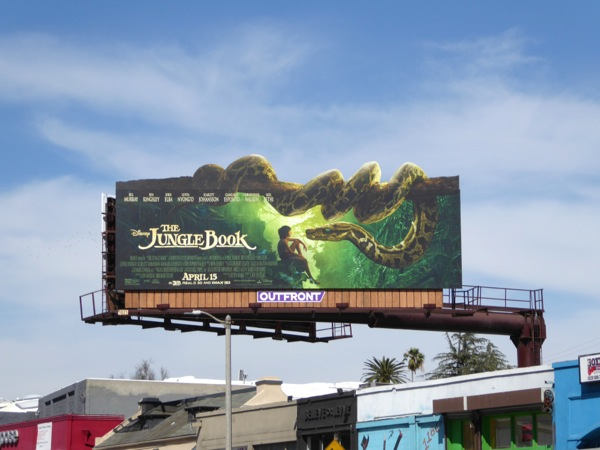 Jungle Book snake billboard