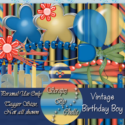 Freebie Vintage Birthday Boy