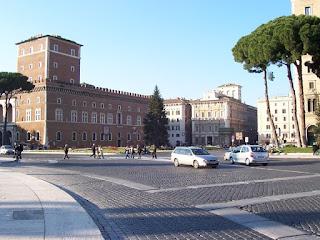 The Palazzo Venezia looks out over the Piazza Venezia and the Via del Plebiscito