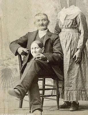 Lustige Ehe Bilder - Damals Frau ohne Kopf