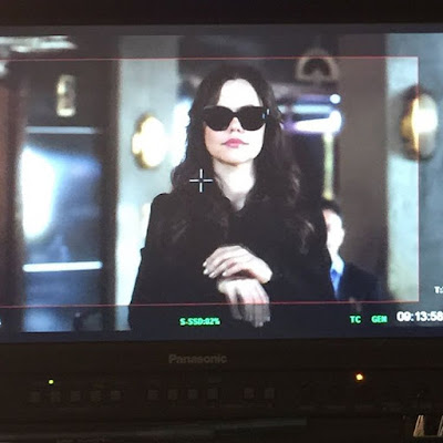 Tammin Sursok (Jenna) PLL behind-the-scenes episode 7x05
