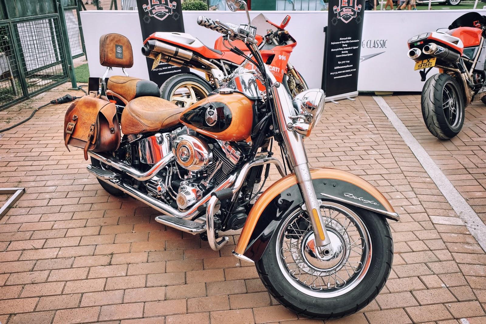 Harley Davidson Softail Deluxe Motorbike