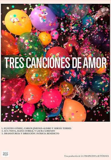 Teatro: Tres canciones de amor. Sala Cuarta Pared - Vista Teatral