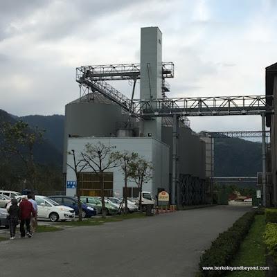 exterior of Kavalan Whisky distillery in Yilan, Taiwan