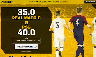 betfair supercuota victoria de Real Madrid o PSG 14 febrero