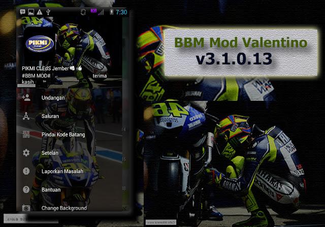 BBM Valentino Rossi Theme Apk v3.1.0.13 Mod Unlimited Hack