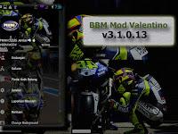 BBM Valentino Rossi Theme Apk v3.1.0.13 Mod Free Sticker/Change Background