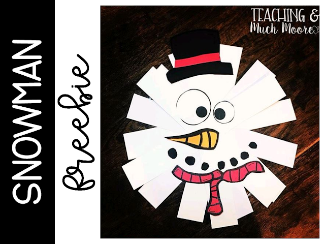 Snowman freebie craft
