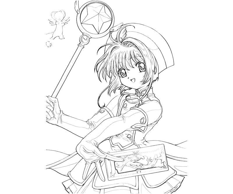 Cardcaptor sakura sakura kinomoto profil mario for Cardcaptor sakura coloring pages