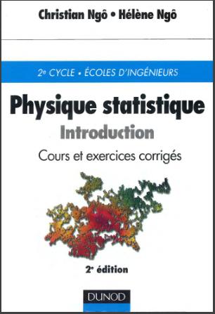 Livre : Physique statistique - Introduction ,Cours et exercices corrigés