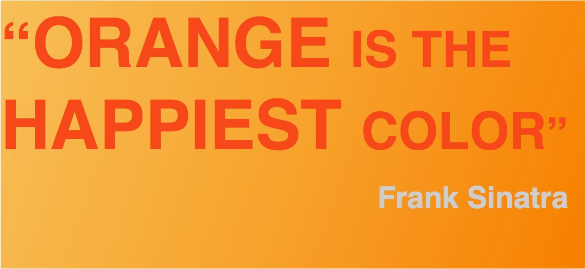 Frank Sinatra quote about orange