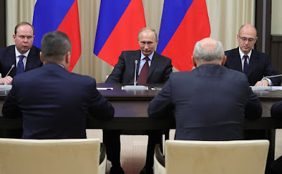 Vladimir Putin in the Kremlin. Former Russian regional leaders.