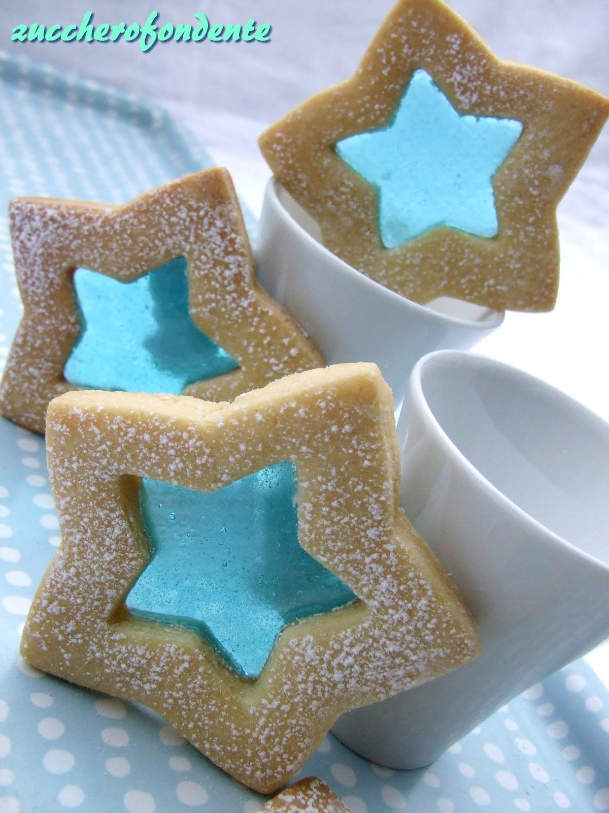 Biscotti Di Natale Effetto Vetro.Zuccherofondente Biscotti Di Vetro