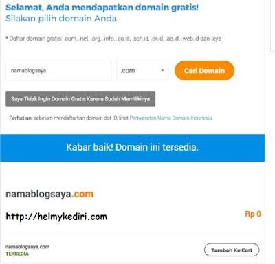 domain gratis dari niagahoster