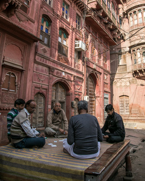 men playing cards bikaner rajasthan