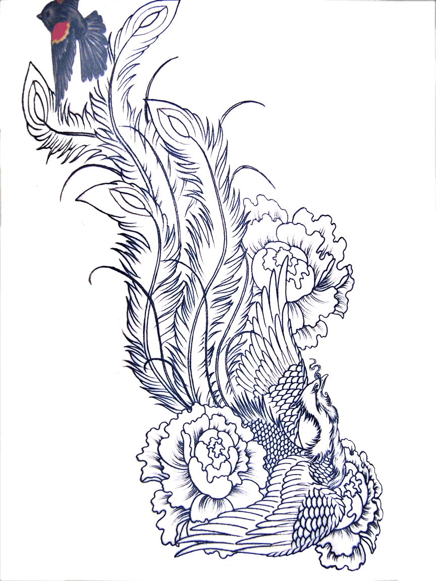 Tattoo Sleeve Stencils: Tattoo Designs Phoenix 04