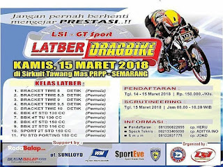 Latihan Bersama Drag Bike Semarang 15 Maret 2018