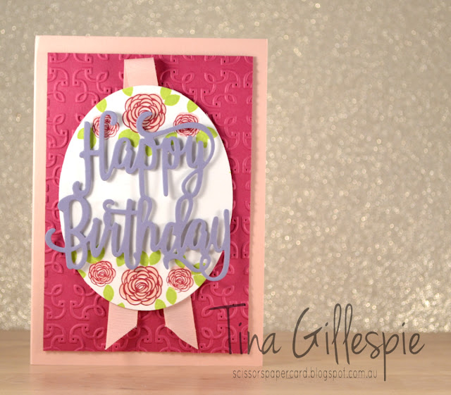 scissorspapercard, Stampin' Up!, Happy Birthday Gorgeous, Happy Birthday Thinlit, Garden Trellis TIEF