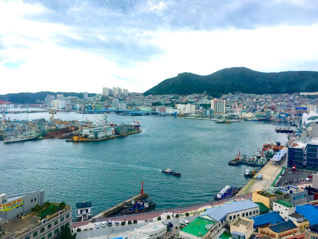 Busan harbour from Lotte skypark, Jung-gu | Busan, South Korea