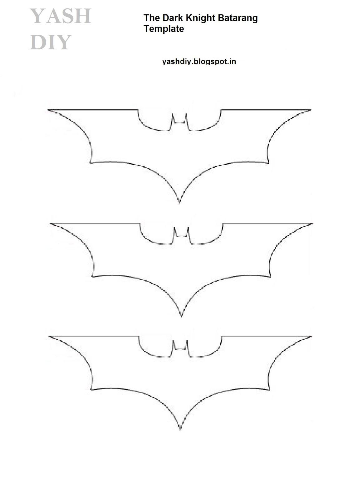 yash diy s templates the dark knight batarang template improved