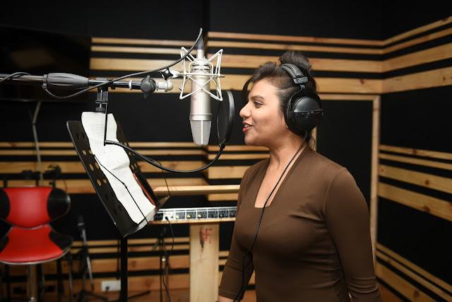 7. Ritu Pathak (Singer) during song recording CRAZY BALAM
