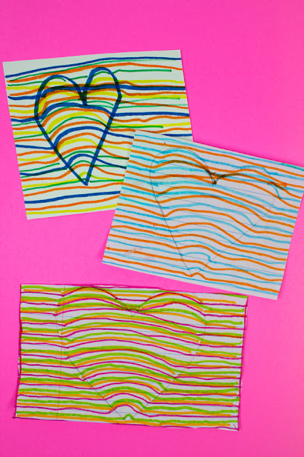 How to make a 3D optical illusion heart drawing craft for Valentine's Day