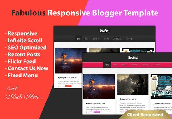 Fabulous Responsive Blogger Template Preview