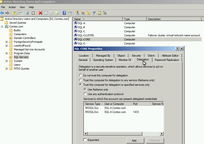Spiner Tsai IT Blog: SQL Server - Use Windows Authentication across